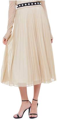 Juicy Couture Lurex Jersey Pleated Skirt