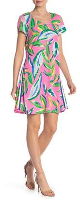 MSK Patterned Cap Sleeve Dress