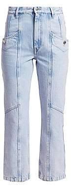 Etoile Isabel Marant Women's Notty Lightwash Denim Cropped Jeans