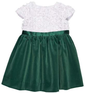 Florence Eiseman Flutter & Sequin Dress w/ Velvet Skirt, Size 3-24 Months