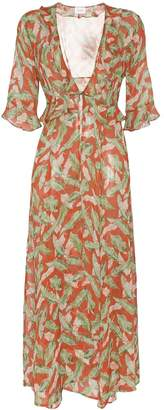 Leone We Are leaf print maxi robe