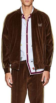 Needles Men's Striped Velour Track Jacket - Brown