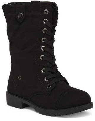 Fold Over Cozy Lined Lace Up Boots