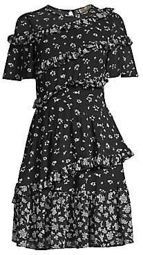 MICHAEL Michael Kors Women's Daisy Ruffle Dress - Size 0