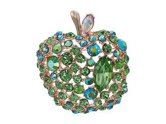 Betsey Johnson Green Apple Pin