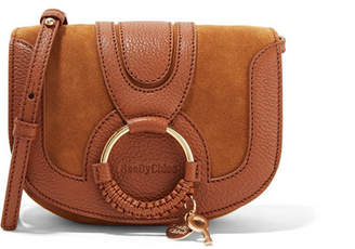 See by Chloé - Hana Mini Textured-leather And Suede Shoulder Bag - Tan $295 thestylecure.com