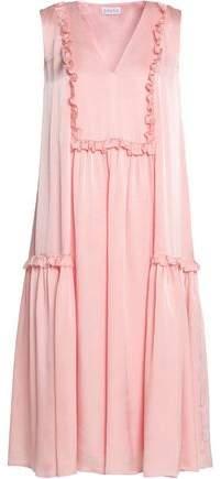 Ruffle-Trimmed Jacquard Dress