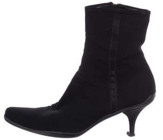 Prada Semi-Pointed-Toe Ankle Boots