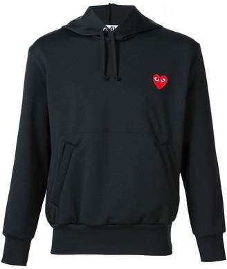 Comme des Garcons heart application hoodie