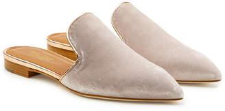 Malone Souliers Marianne Velvet Slip-On Loafers