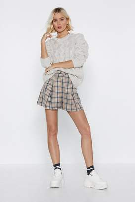 Nasty Gal Wouldn't Knit Be Nice Cable Knit Sweater