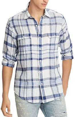 Polo Ralph Lauren Plaid Linen Classic Fit Button-Down Workshirt