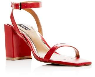 Jaggar Women's Squared Leather Block Heel Sandals