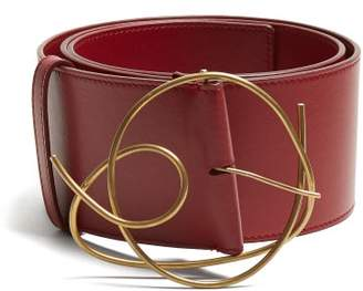 Roksanda Leather Belt - Womens - Burgundy