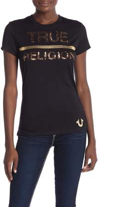 True Religion Sequin Graphic Logo Tee