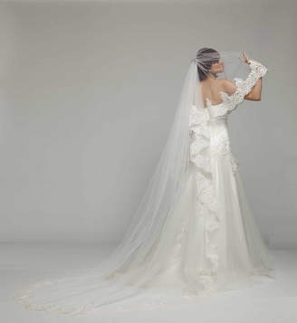 Couture Melanie Potro Bridal French Lace Cathedral Length Bridal Veil