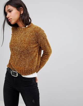 Qed London Chunky Knit Chenille Jumper