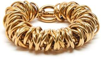 Balenciaga Multi Ring Bracelet - Womens - Gold