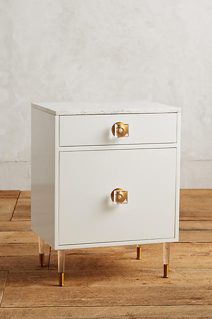 Anthropologie Tracey Boyd Lacquered Regency Bath Cabinet, Small