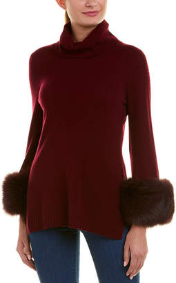 Sofia Cashmere sofiacashmere Sofiacashmere Turtleneck Cashmere Sweater