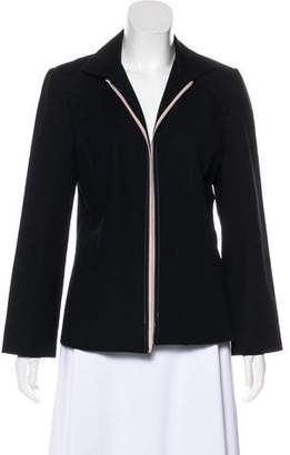 Ellen Tracy Linda Allard Structured Open Front Jacket