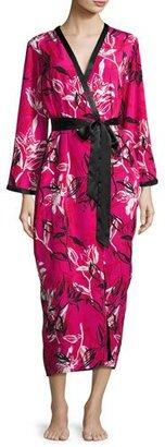 Oscar de la Renta Floral-Print Wrap Robe, Berry Print $172 thestylecure.com