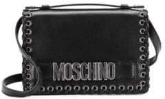Moschino Whipstitch Leather Satchel