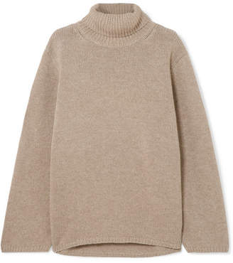 Totême Cambridge Merino Wool And Cashmere-blend Turtleneck Sweater - Beige