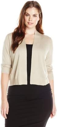 Calvin Klein Women's Plus-Size Lurex Basic Shrug