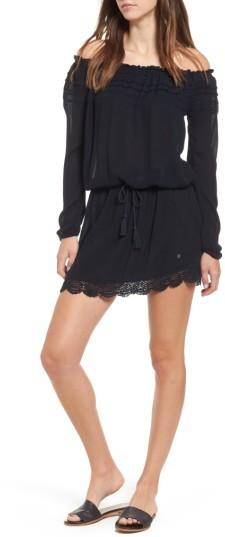 Women's Roxy Lace Trim Off The Shoulder Dress