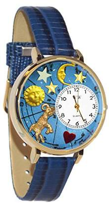 Whimsical Watches Unisex G1810003 Aries Royal Blue Leather Watch