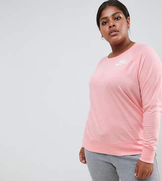 Nike Plus Gym Vintage Sweatshirt In Pink