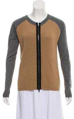 Reed Krakoff Silk Zip-Up Knit Cardigan