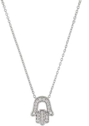Bony Levy 18K White Gold Diamond Hamsa Pendant Necklace - 0.10 ctw