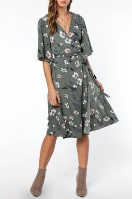 Everly Floral Wrap Dress $72 thestylecure.com
