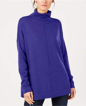 Eileen Fisher Tencel® Center-Seam Relaxed Turtleneck Sweater, Regular & Petite, Created for Macy's