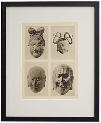 Rejuvenation Framed Photogravure of Chinese Masks