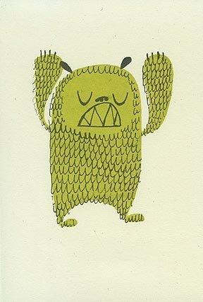 Matte Stephens Bear Monster - Gocco Print