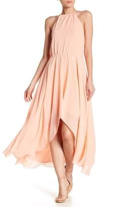 Haute Hippie Hi-Lo Halter Maxi Dress