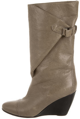 Balenciaga  Balenciaga Leather Wedge Boots
