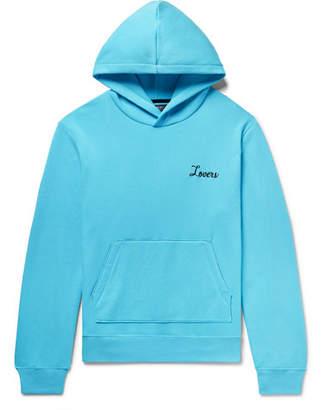 Amiri Appliquéd Fleece-Back Cotton-Jersey Hoodie