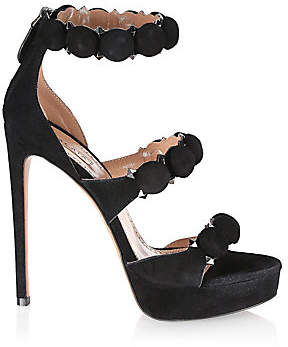 Alaia Women's Bomb Suede Ankle-Strap Sandals
