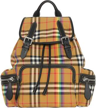 Burberry Medium Rucksack Vintage Check Cotton Backpack