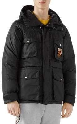 Gucci Nylon Jacquard Puffer Coat