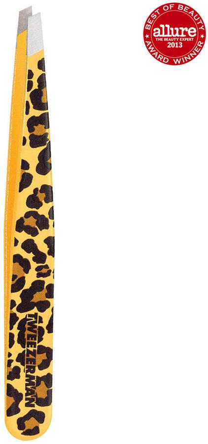 Tweezerman Animal Print Slant Tweezer - Leopard