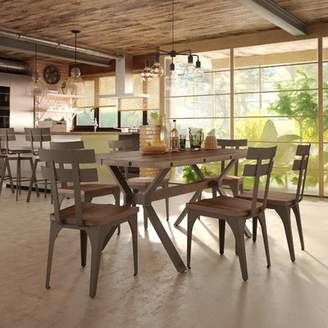 17 Stories Darcelle 7 Piece Distressed Dining Set
