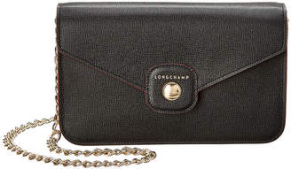 Longchamp Le Pliage Heritage Leather Wallet On Chain
