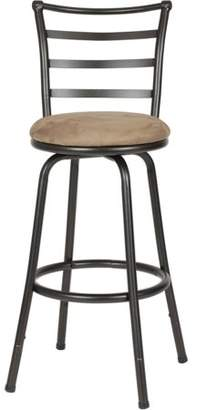 Roundhill Furniture Roundhill Round Seat Bar/Counter Height Adjustable Metal Bar Stool