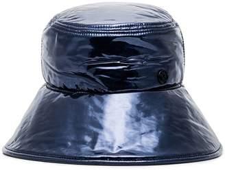 Maison Michel Paulina varnished leather hat