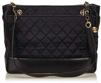 Chanel Vintage Quilted Nylon Chain Tote